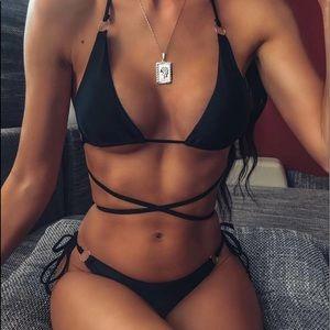 Shein Black Bikini Top